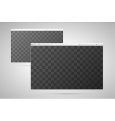 two browser windows with transparent place vector image