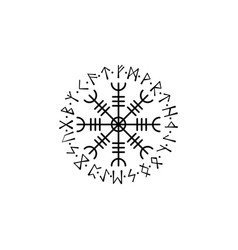 Viking circle symbol vector