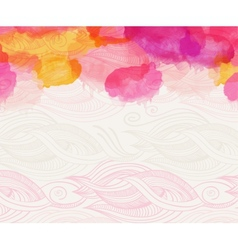 Watercolour abstract background vector image vector image