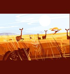 Wild picturesque savannah vector