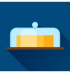 With butter in flat design style vector