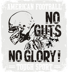 Football Guts vector image vector image