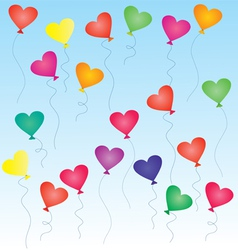heart-shaped balloons vector image vector image