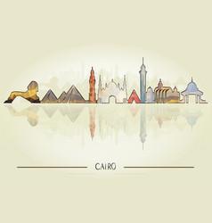 historic cairo architecture vector image