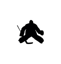 ice hockey silhouettes vector image vector image