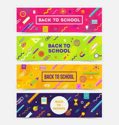 set of horizontal colorful abstract banners vector image