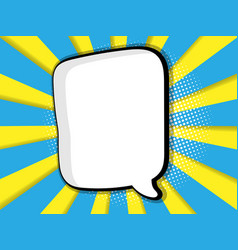 Abstract blank comic book pop art background vector