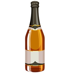 Bottle of champagne with sealed cap vector image vector image