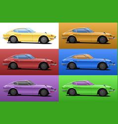 car in pop art style vector image