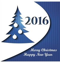 Christmas card with Christmas tree vector image