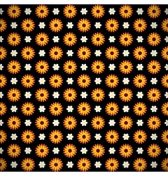 Dark seamless pattern with flowers vector image vector image