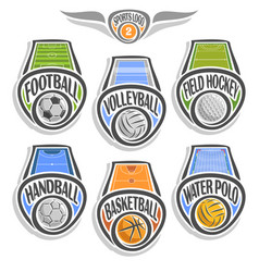 set sports logo vector image