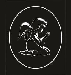 angel praying vector image vector image