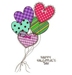 Card with scrap booking heart air balloons vector