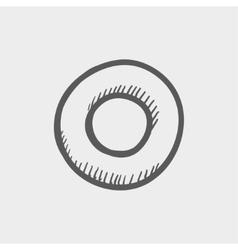Record button sketch icon vector image