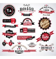 Restaurant Labels vector image