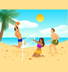 summer holiday flat concept vector image