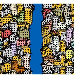 City sketch seamless background for your design vector image vector image