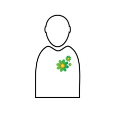 eco flower in man vector image