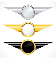 gold emblems set vector image vector image