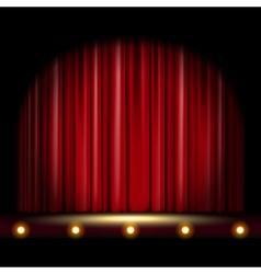 Scene with curtain vector