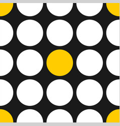 tile pattern with white and yellow polka dots vector image vector image