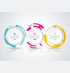 abstract circle infographics with options template vector image