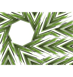 Abstract green arrow banner vector image