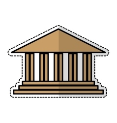 Academic building icon vector