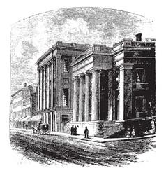 Alabama bank of mobile vintage vector