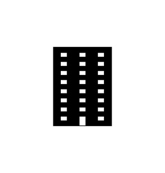 Apartment Icon Flat vector image