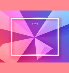 astract trendy color background with white frame vector image