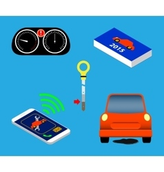 Automotive icons set vector image