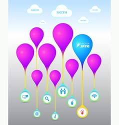 balloon with icons vector image