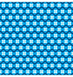blue flower pattern stock vector image