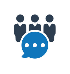 Business group discussion icon vector