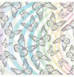 Butterflies and swirls background vector