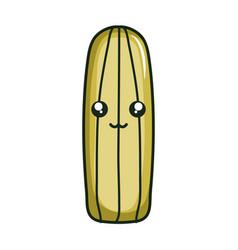 cactu plant exotic kawaii character vector image