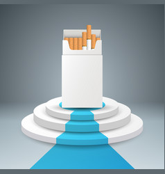 Cigarette pack stair ladder vector