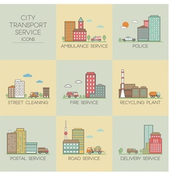 City transport service vector image