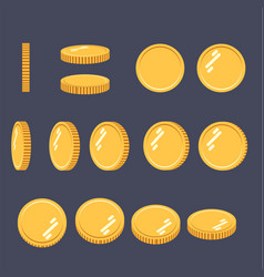 coins set of sprites for rotation in vector image