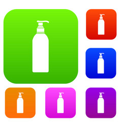 cosmetic bottle set collection vector image