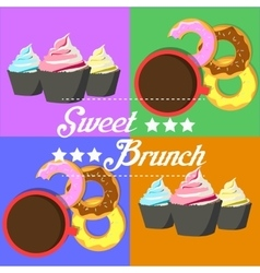 Donuts and muffins vector