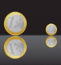 Euro coin vector