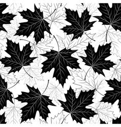 Fall leaf seamless pattern Autumn foliage vector