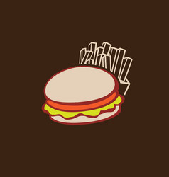 fast food icons logo file vector image