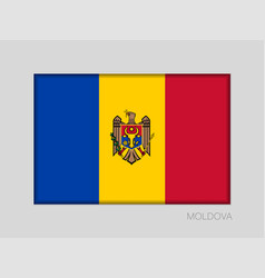Flag of moldova national ensign aspect ratio 2 to vector