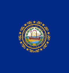 flag usa state new hampshire vector image