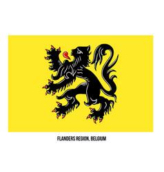 Flanders region belgium flag on white background vector