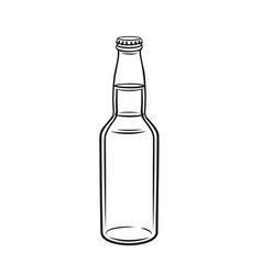 Glass drink bottle vector